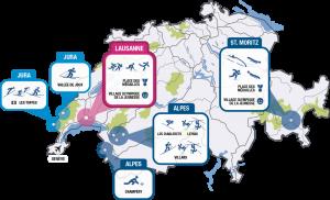 Jeux Olympiques De La Jeunesse Lausanne 2020 - Youth Olympic Games - Carte, plan des épreuves