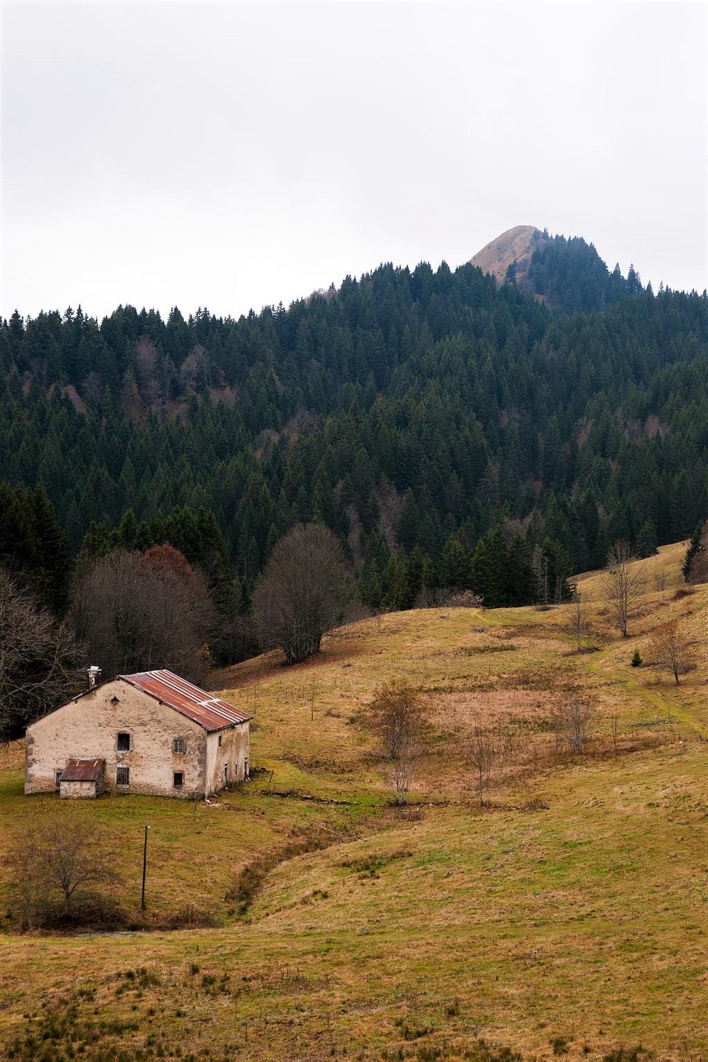 Le Crêt de Chalam dans le Massif du Jura en France (Ain)