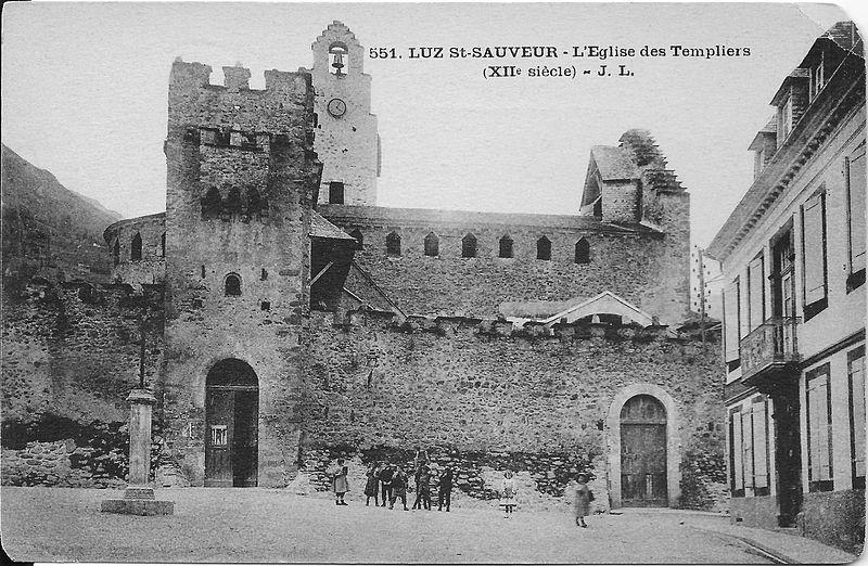 """L'Eglise Saint-André """"des Templiers"""" - Luz Saint Sauveur"""