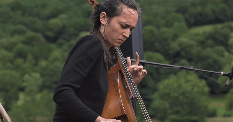 Musicienne lors du festival Jazz A Luz - Cévéo