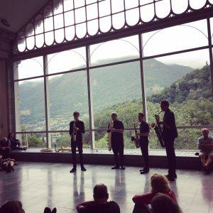 Quatuor lors du festival Jazz A Luz - Cévéo