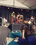 Scène et musiciens pour le festival Jazz à Luz - Cévéo