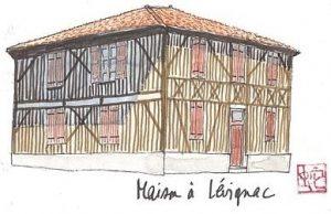 Une maison typique à Lévignacq