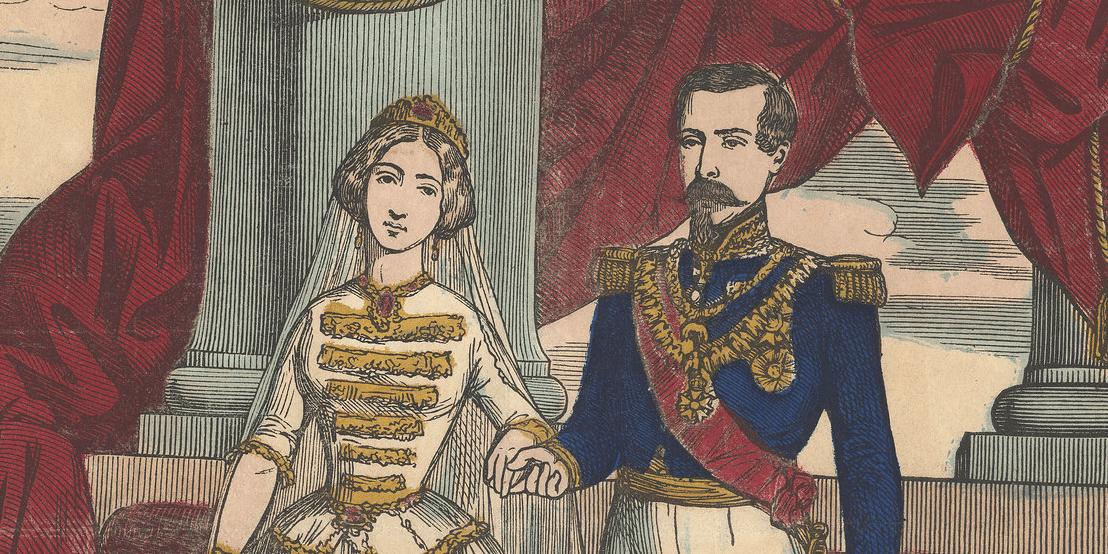 Napoléon III et Eugénie, emblèmes de Luz-Saint-Sauveur et connus dans toutes les Pyrénées